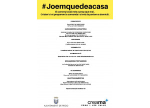 PEGO :NUEVA GUIA DE COMERCIOS LOCALES  DE SERVICIO POR TELEFONO Y ENTREGA A DOMICILIO #JOEMQUEDEACASA