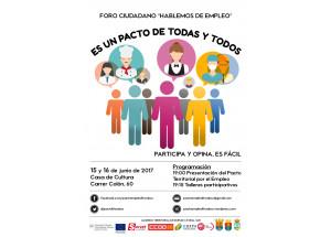PARTICIPA: FÒRUM CIUTADÀ DIAGNÒSTIC DEL PACTE TERRITORIAL PER L'OCUPACIÓ