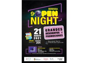 Novena edición de la Benissa Open Night el próximo 21 de agosto.
