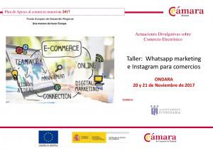 NOUS CURSOS GRATUÏTS PER A COMERCIANTS I EMPRESARIS D'ONDARA: Whatsapp màrqueting i Instagram per a comerços, i Google Seduction per a comerciants