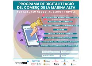 CREAMA PONE EN MARCHA EL CICLO DE COMERCIO CON EL Programa de digitalización del comercio de la Marina Alta.