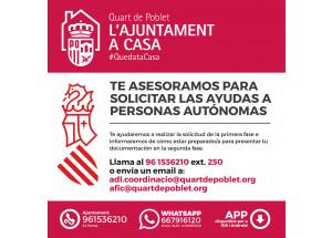 Te asesoramos para solicitar las ayudas a personas autónomas de la  GVA Labora