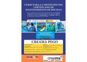 Creama- Afic Pego organitza un curs per a l'obtenció del Certificat de Manteniment de Piscina