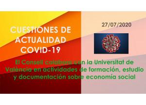 El Consell colabora con la Universitat de València en actividades de formación, estudio y documentación sobre economía social