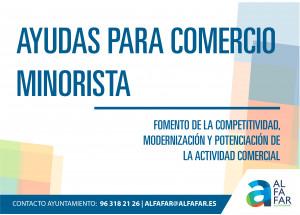 Alfafar inicia el termini de presentació de les Ajudes de suport al comerç minorista