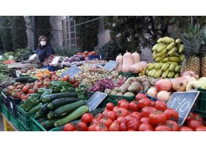 Realización del mercado en sábados festivos del 2021.