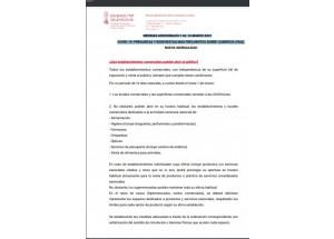 Medidas adicionales COVID-19 sobre actividad comercial. Marzo 2021