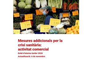 Medidas adicionales crisis sanitaria: actividad comercial