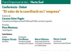 FORO EMPRESARIAL HORTA SUD - Conferència
