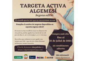 TARGETA ACTIVA SEGONA EDICIÓ - AMPLIACIÓ DEL NOMBRE DE TARGETES