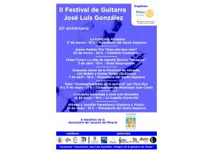 Arriba el II Festival de Guitarra José Luís González