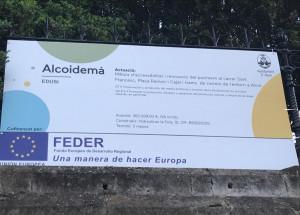 Comencen les obres en Sant Francesc, Ramón y Cajal i placeta de la Creu Roja