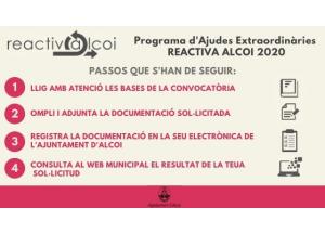 PROGRAMA D'AJUDES EXTRAORDINARIES REACTIVA ALCOI, ANY 2020.
