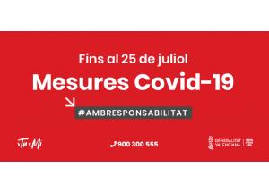 Noves mesures Covid-19 fins 25 de juliol