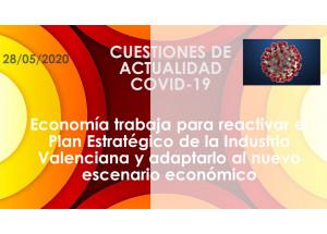 Economía trabaja para reactivar el Plan Estratégico de la Industria Valenciana y adaptarlo al nuevo escenario económico