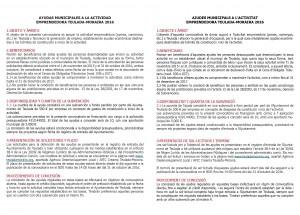 AJUDES MUNICIPALS A L'ACTIVITAT EMPRENEDORA 2016
