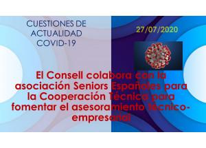 El Consell colabora con la asociación Seniors Españoles para la Cooperación Técnica para fomentar el asesoramiento técnico-empresarial