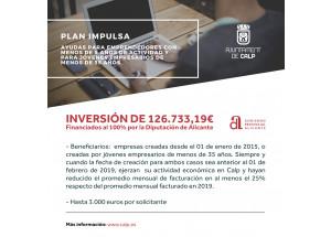 Convocatoria Subvención Plan Impulsa del Ayuntamiento de Calp y la Diputación de Alicante