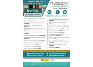 Nuevos cursos gratuitos en marzo para trabajadores y autónomos de comercio