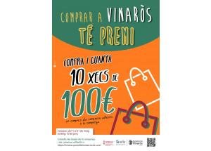Comercio reparte mil euros en la campaña Comprar en Vinaròs tiene premio