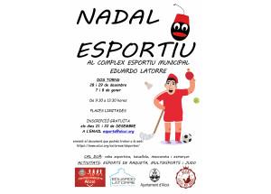 """Aquest Nadal cita amb l'esport en el """"Nadal Esportiu"""" en el Complex Esportiu Municipal Eduardo Latorre"""