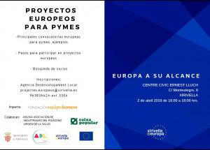 Jornada de formació en projectes europeus per a pimes