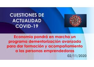 Economía pondrá en marcha un programa dementorización avanzada para dar formación y acompañamiento a las personas emprendedoras
