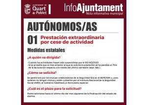 PRESTACIÓ EXTRARORDINARIA PER CESSAMENT D'ACTIVITAT.