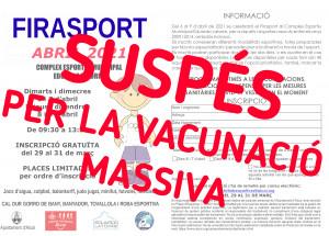 Se Suspende Firasport porque el Complejo Deportivo Eduardo Latorre acogerá la vacunación masiva