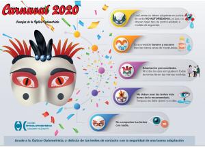 CARNAVAL 2020: CONSEJOS DEL COLEGIO DE ÓPTICOS-OPTOMETRISTAS
