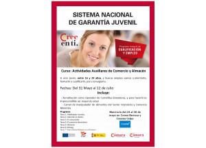 CURS DE GARANTIA JUVENIL / AUXILIARS DE COMERÇ I MAGATZEM