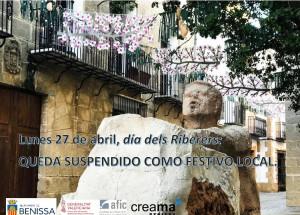 El lunes 27 de abril queda anulado como festivo local en Benissa.