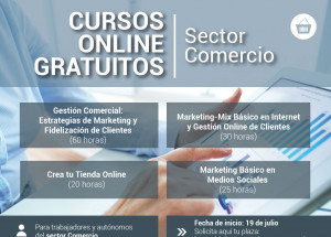 CURSOS GRATUITOS ONLINE, Sector comercio