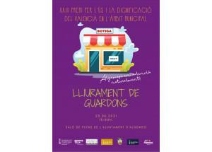 Comerços guardonats en el «XXIII Premi per l'Ús i la Dignificació del Valencià en l'Àmbit Municipal»