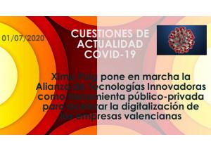Ximo Puig pone en marcha la Alianza de Tecnologías Innovadoras como herramienta público-privada para acelerar la digitalización de las empresas valencianas