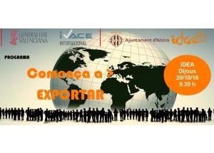 Alzira - Jornada Comença a exportar