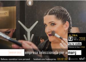 Alzira 12 meses 12 empresas: MAKEUP CREU- Empresa seleccionada en el mes de marzo.