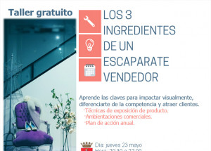 TALLER LOS TRES INGREDIENTES DE UN ESCAPARATE VENDEDOR