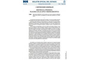 Real Decreto 926/2020, de 25 de octubre, por el que se declara el estado de alarma para contener la propagación de infecciones causadas por el SARS-CoV-2.