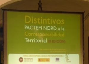 IV EDICIÓN DE LOS DISTINTIVOS PACTEM NORD A LA CORRESPONSABILIDAD TERRITORIAL