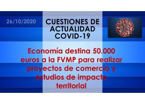 Economía destina 50.000 euros a la FVMP para realizar proyectos de comercio y estudios de impacto territorial