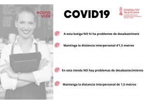 COVID-19 Cartel para comercios