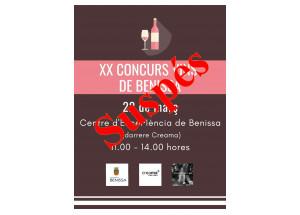 Abierta la inscripción para la XX edición del concurso de vinos artesanales de Benissa.
