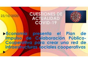 Economía presenta el Plan de Impulso de Colaboración Público-Cooperativa para crear una red de infraestructuras sociales cooperativas