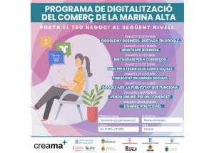 CREAMA POSA EN MARXA EL CICLE DE COMERÇ SOTA EL TÍTOL Programa de digitalització del comerç de la Marina Alta