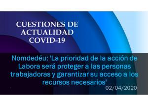 Nomdedéu: 'La prioridad de la acción de Labora será proteger a las personas trabajadoras y garantizar su acceso a los recursos necesarios'