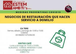 RESTAURACIÓN: SERVICIO COMIDAS PARA LLEVAR
