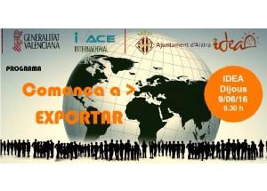 Alzira, 9 de junio de 2016 · Jornada: Empieza a exportar