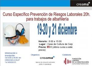 Curso de Prevención de Riesgos Laborales en Albañileria