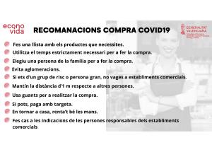 RECOMENDACIONES PARA HACER LA COMPRA.